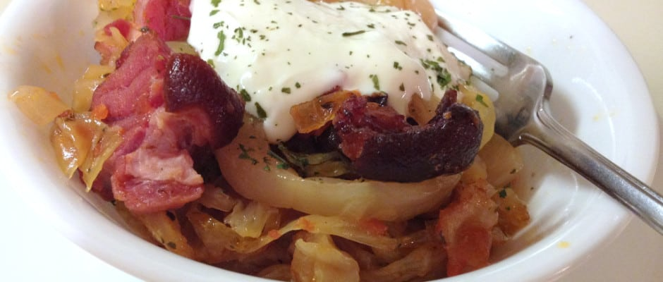 Romanian Sauerkraut with Bacon and Sour Cream