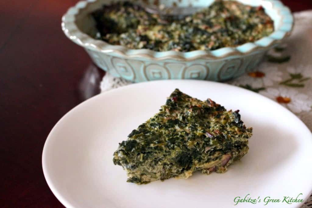 Crustless Spinach with Smoked Meat and Gouda Cheese Quiche4