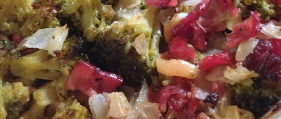 Roasted Broccoli with Turkey Bacon