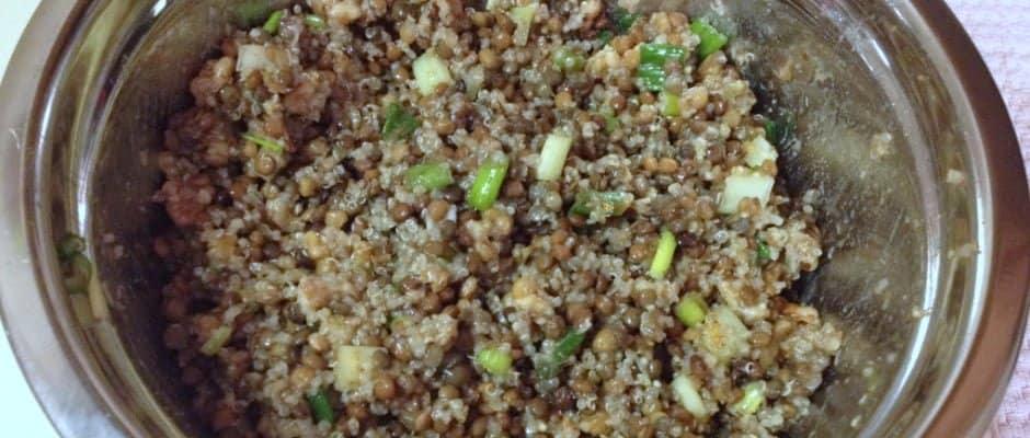 Quinoa Lentils Salad with Walnuts