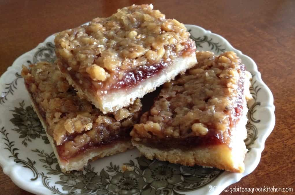 Saxon walnut and rose hip jam bars - What to do with rosehips jelly and vinegar ...