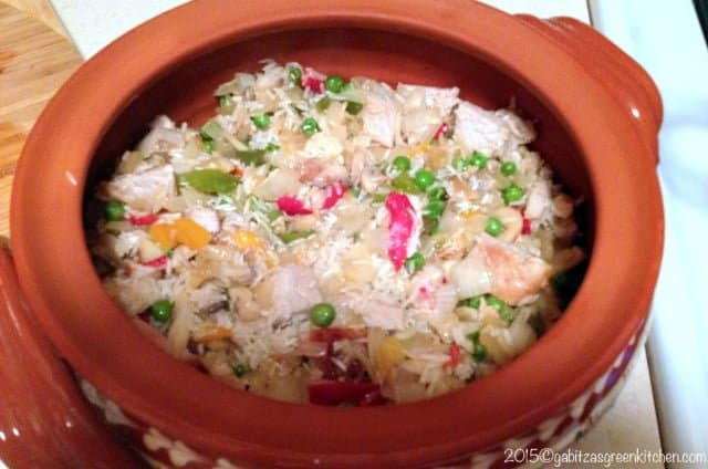 Rice Pilaf with Pork and Vegetables