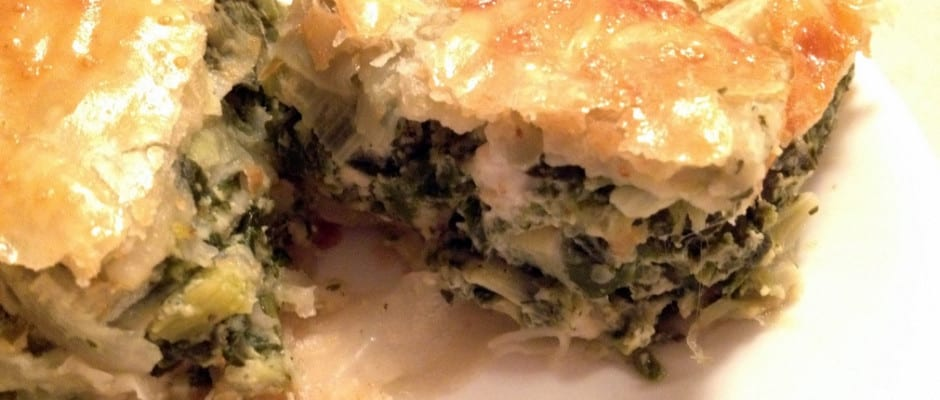 Eastern European Spinach and Feta Cheese Pie