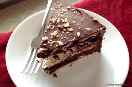 Tort de bezea cu ganache de ciocolata22
