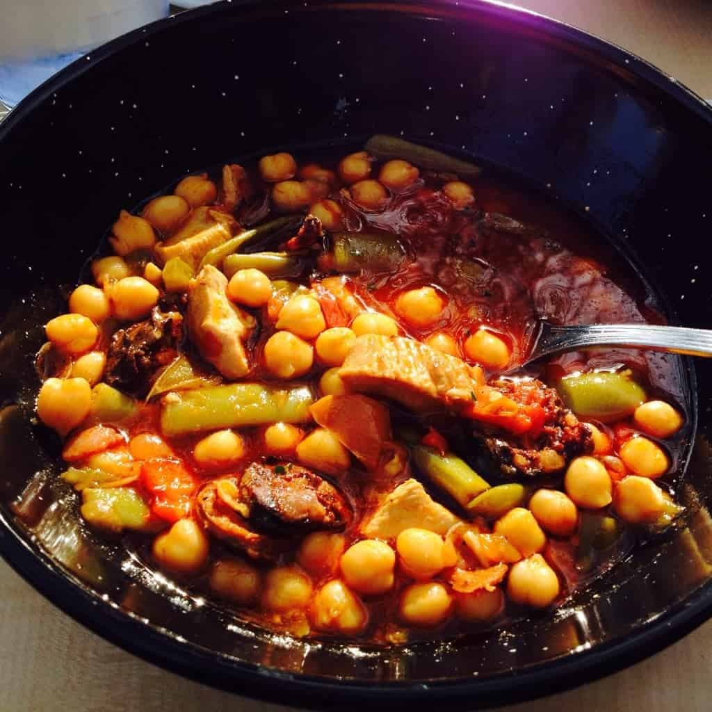 Chickpeas with Chorizo Chicken and Green Beans