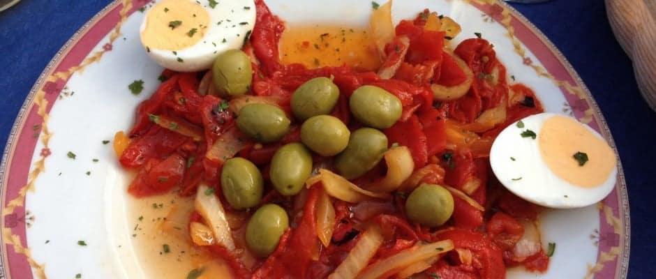 Salata De Ardei Copti Cu Masline- Din Bucataria Spaniola