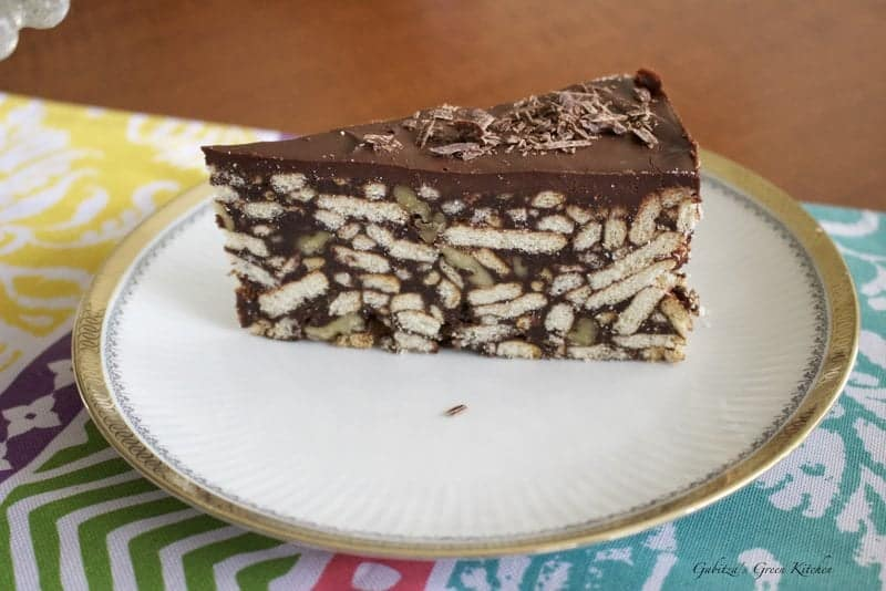 No Bake Chocolate Biscuit Cake - Gabitza's Green Kitchen